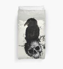 Raven and Skull Duvet Cover