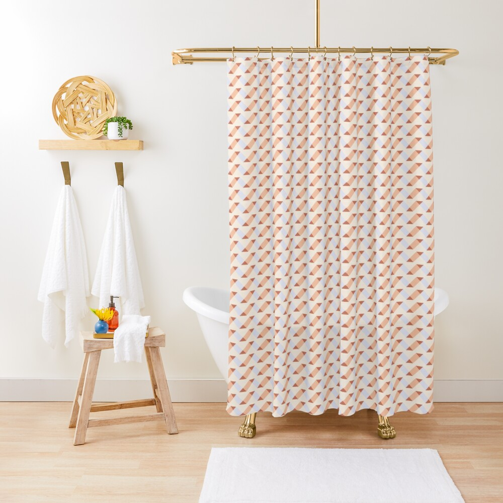 Geometric Pattern: Spiral: Timber Shower Curtain