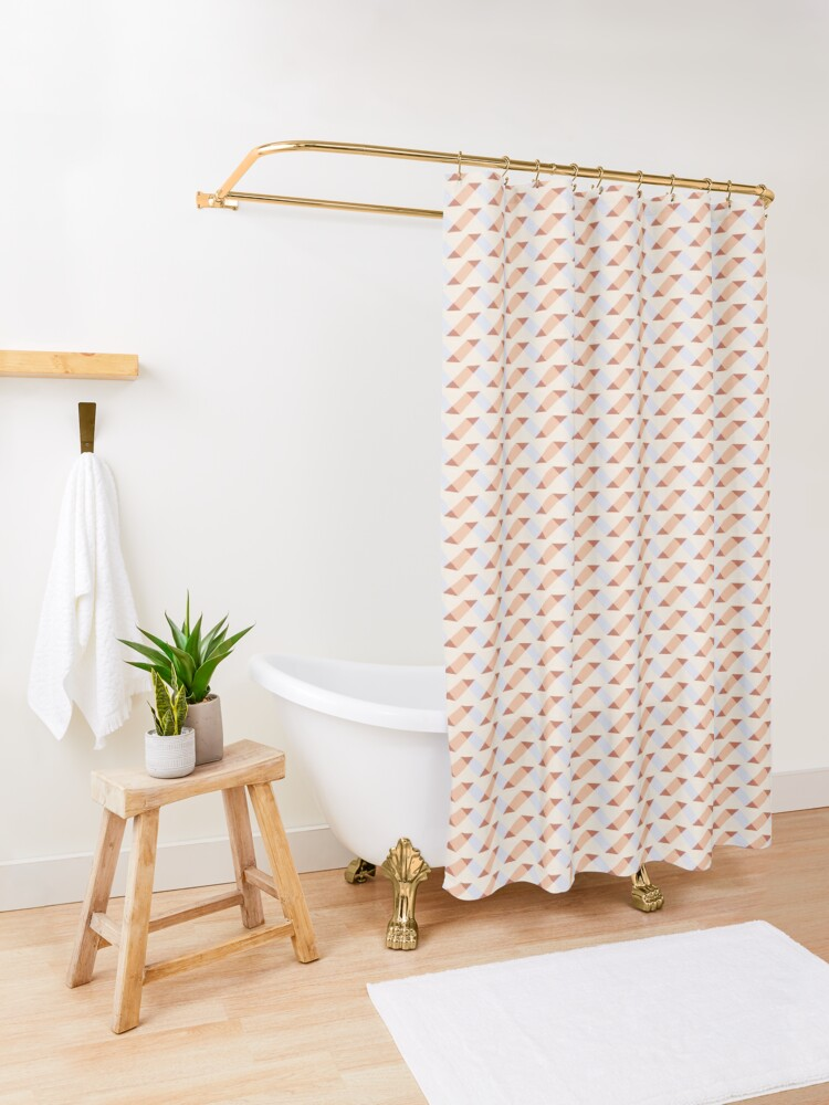 Alternate view of Geometric Pattern: Spiral: Timber Shower Curtain
