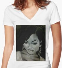 Megan Good  Women's Fitted V-Neck T-Shirt