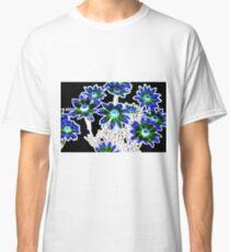 Flower pattern on black Classic T-Shirt