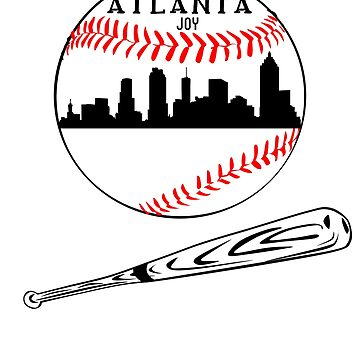 Atlanta Baseball Design T-shirt by Stefanoprince84