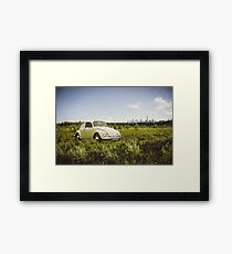 White Beetle Framed Print