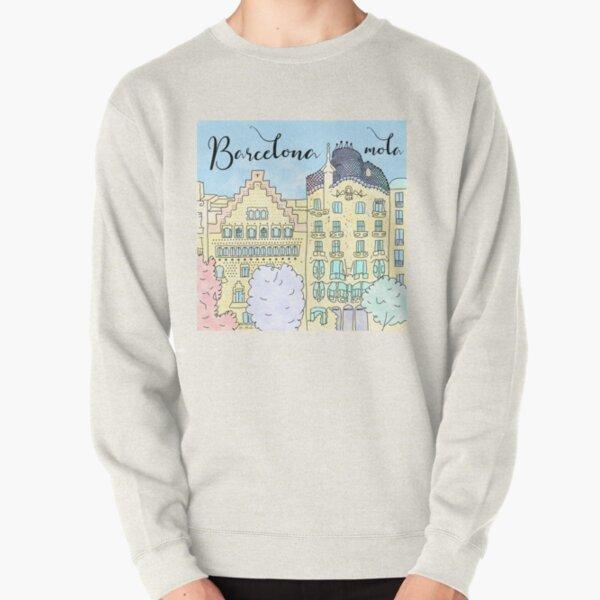 Barcelona mola by Alice Monber Pullover Sweatshirt
