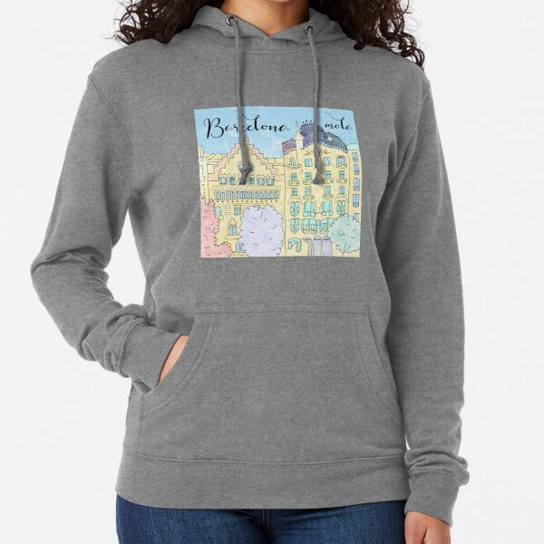 Barcelona mola by Alice Monber Lightweight Hoodie