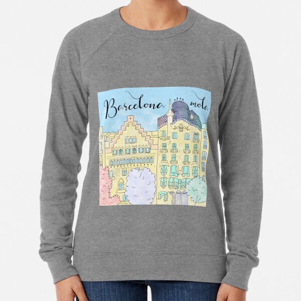 Barcelona mola by Alice Monber Lightweight Sweatshirt