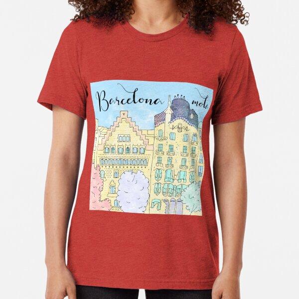 Barcelona mola by Alice Monber Tri-blend T-Shirt