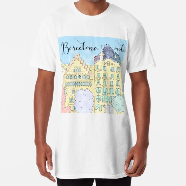 Barcelona mola by Alice Monber Long T-Shirt