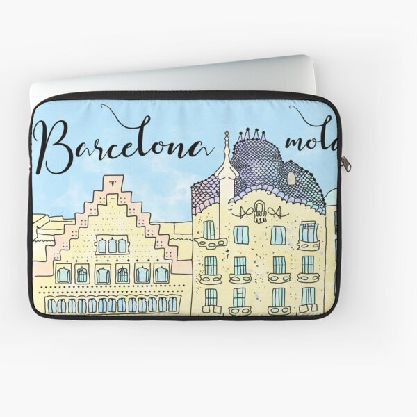 Barcelona mola by Alice Monber Laptop Sleeve