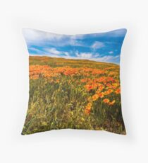 Lancaster Poppy Fields, Welcome Spring Throw Pillow