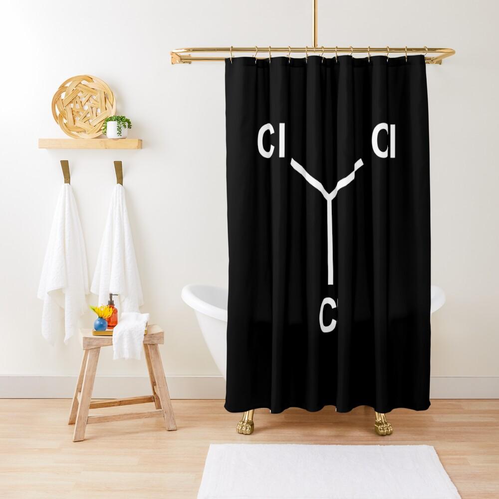 Chloroform Chemical Molecule Structure Shower Curtain