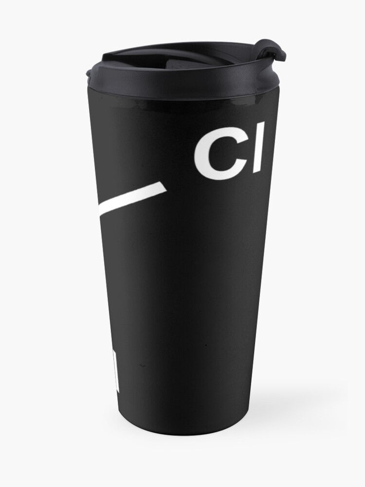 Alternate view of Chloroform Chemical Molecule Structure Travel Mug