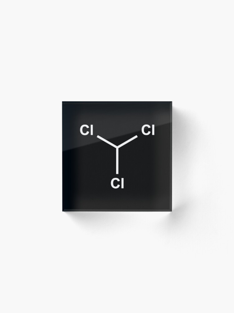 Alternate view of Chloroform Chemical Molecule Structure Acrylic Block