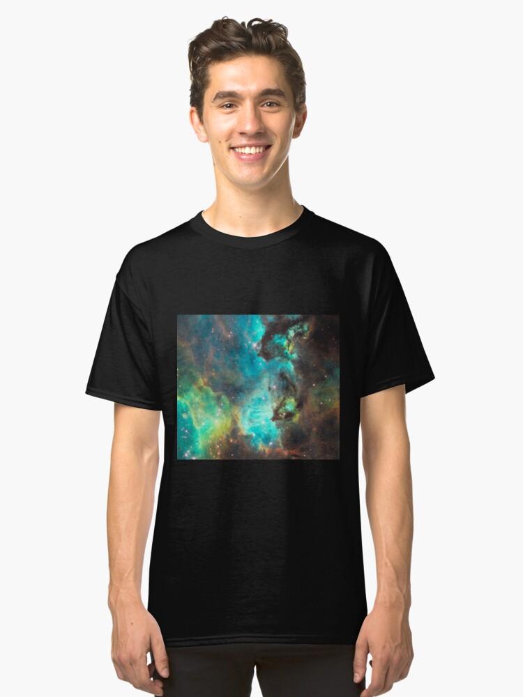 Green Galaxy Classic T-Shirt Front