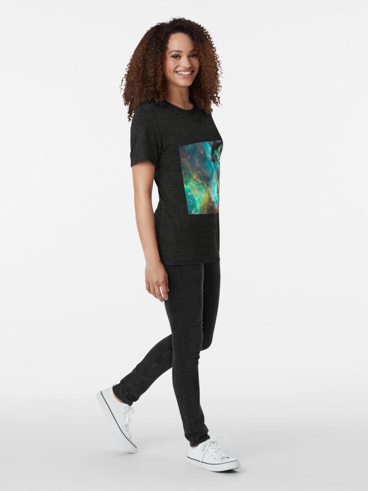 Alternate view of Green Galaxy Tri-blend T-Shirt