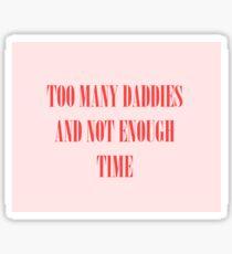 Violet Chachki Too Many Daddies  Sticker