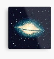 8bit Galaxy: M104 Metal Print
