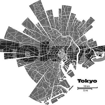 Tokyo map by UrbanizedShirts
