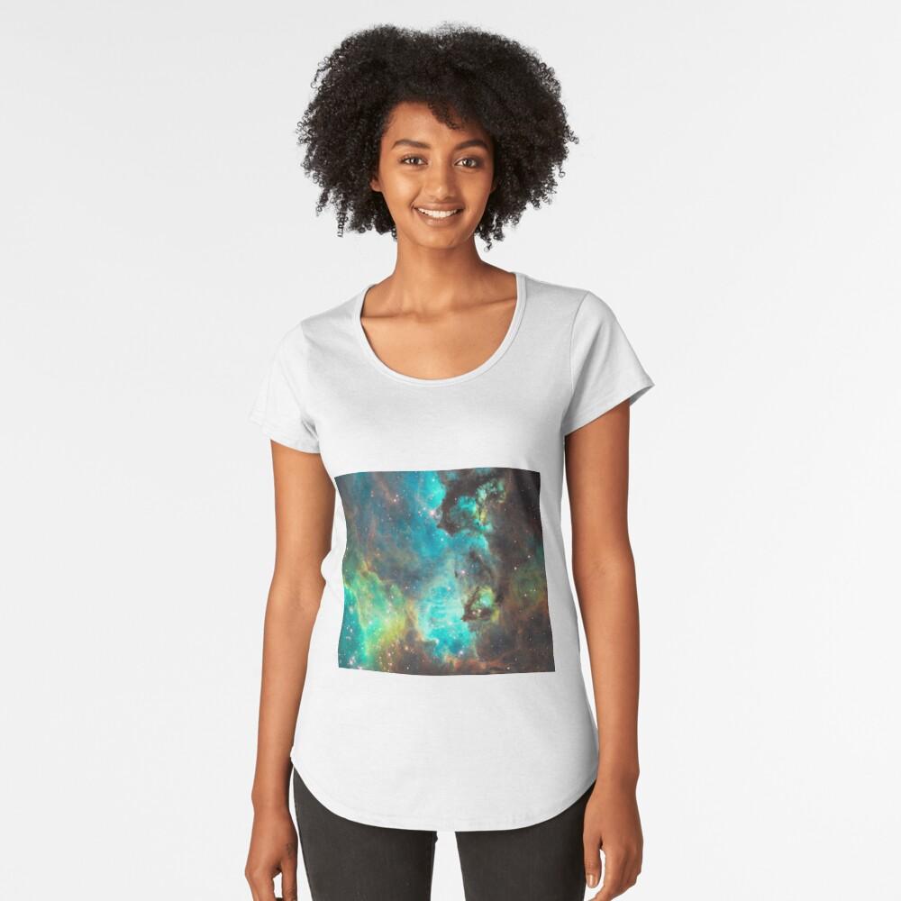 Green Galaxy Premium Scoop T-Shirt