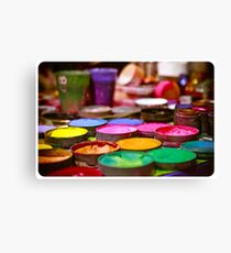 Pots of paint Canvas Print