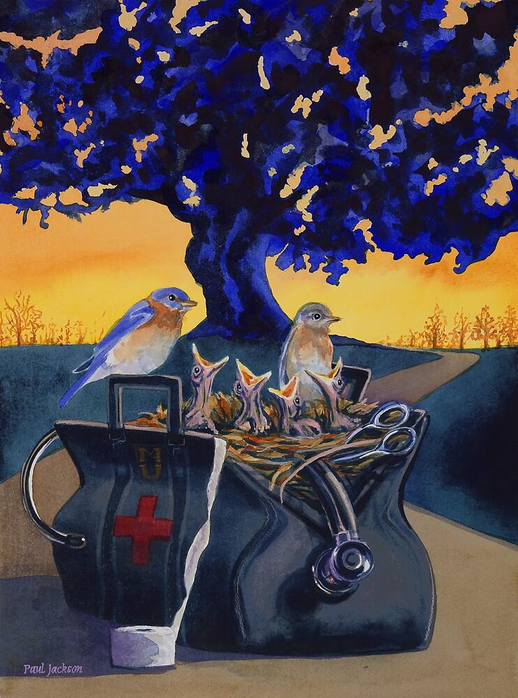 """Family Medicine"" Watercolor by Paul Jackson"