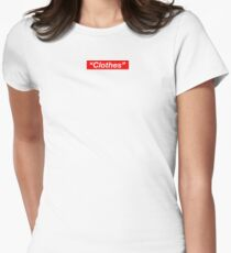 """""""Clothes"""" Women's Fitted T-Shirt"""