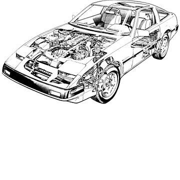 Datsun Nissan 300ZX Z31 US _bk by DatsunStyle