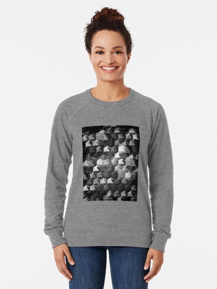 Alternate view of AS THE CURTAIN FALLS (MONOCHROME) Lightweight Sweatshirt