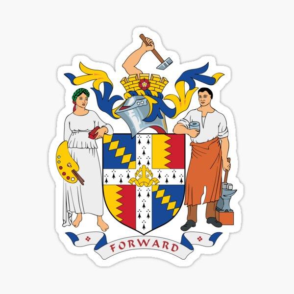 Coat of Arms of Birmingham, England Sticker