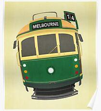 Melbourne Straßenbahn Poster