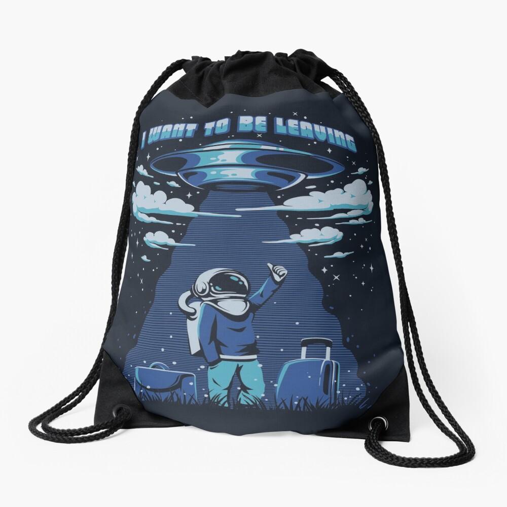I want to be leaving Drawstring Bag
