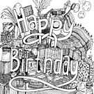 Happy Birthday - party tessellation by lwcomic