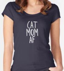 Cat Mom Af Women's Fitted Scoop T-Shirt