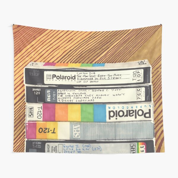 VHS & Wooden Wall Tapestry