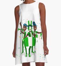 Nigeria Flag Football Fans A-Line Dress