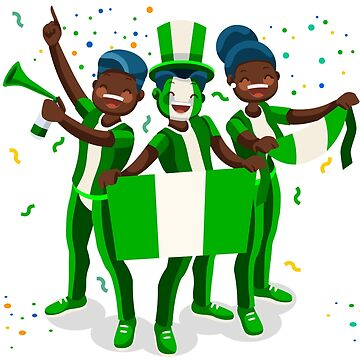Nigeria Flag Football Fans by aurielaki