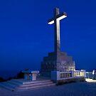 Large Cross at Mt. Srd in Dubrovnik, Croatia by Yen Baet