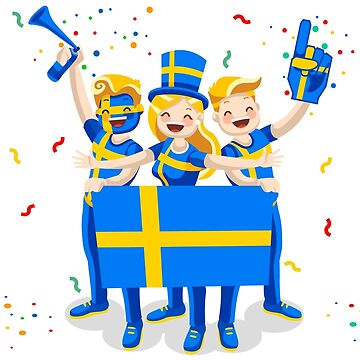 Sweden Flag Football Fans by aurielaki