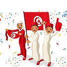 «Fanáticos del fútbol de la bandera de Marruecos» de aurielaki