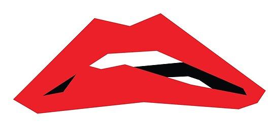Rote Lippen von deaddisco
