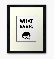 Funny Hipster Glasses Ironic Whatever Humor Framed Print
