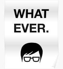 Funny Hipster Glasses Ironic Whatever Humor Poster