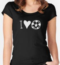 I Love Heart Football Women's Fitted Scoop T-Shirt
