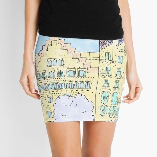 Barcelona mola by Alice Monber Mini Skirt