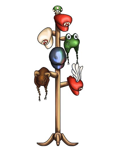 Mario Hat Rack by bfrench87