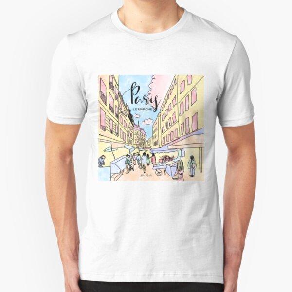 Paris I left by Alice Monber Slim Fit T-Shirt