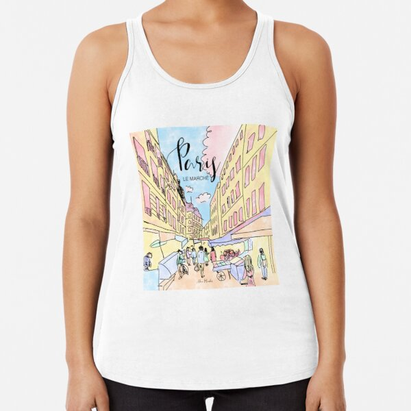 Paris I left by Alice Monber Racerback Tank Top