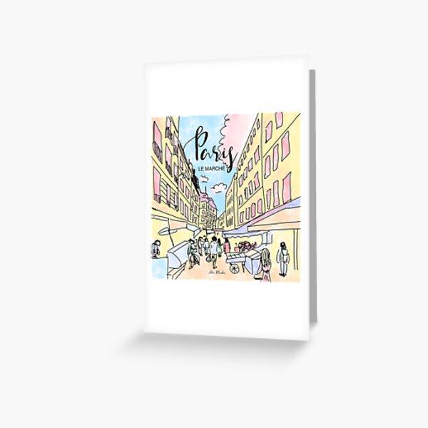 Paris I left by Alice Monber Greeting Card