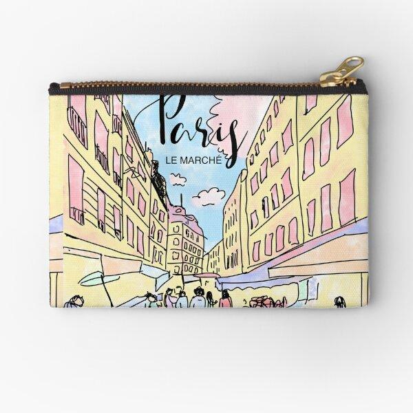 Paris I left by Alice Monber Zipper Pouch