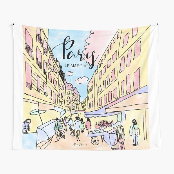 Paris I left by Alice Monber Tapestry